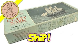 Cutty Sark Sailing Ship Model Building Kit 163 - Famous China Clipper Ship With Cloth Sails