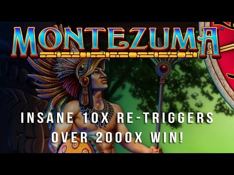 Montezuma Slot - 10x Re-triggers - 2000x Big Win