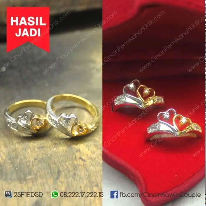 Cincin Emas Putih Berlian Couple Harga Cincin Berlian Emas Putih