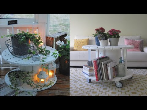 small-wooden-reel-or-spool-tables-reuse-decorating-ideas