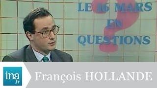 François Hollande, candidat aux législatives 1986 - Archive INA