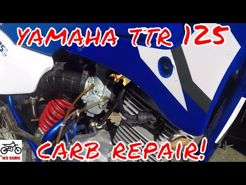Yamaha TTR 125 Carburetor Clean / Fix ~ Cleaning the Pilot Jet When The Bike Won't Start ~ CARB
