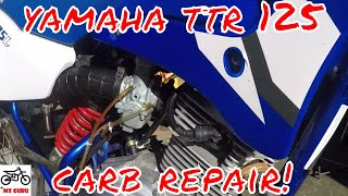 Yamaha TTR 125 Carburetor Clean / Fix ~ Cleaning the Pilot Jet When The Bike Won't Start ~ CARB