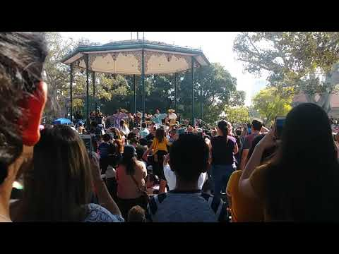 Anthony Gonzalez performs at Placita Olvera