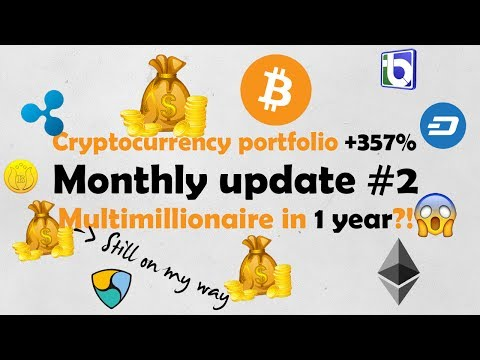 Monthly update #2 - cryptocurrency portfolio +357% in 1 month! - multimillionaire in 1 year? ;)
