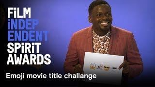 Nominees guess emoji movie titles | Daniel Kaluuya, Kumail Nanjiani, Sean Baker | 2018 Spirit Awards