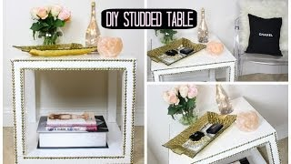 Diy Studded Table! Affordable Room Decor