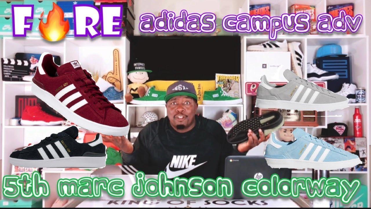 Olive Cargo Adidas CAMPUS ADV x Marc Johnson colorway