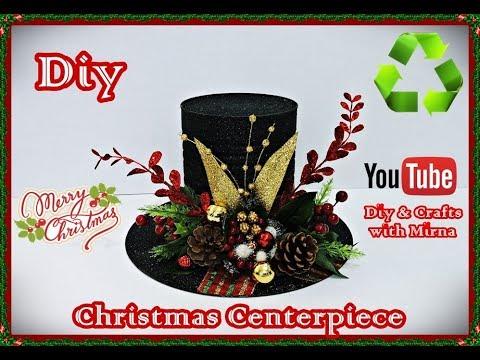 Diy. Christmas Centerpiece Recycling. Diy & Crafts with Mirna