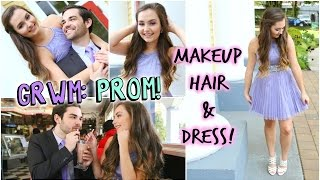 GRWM: Prom! Makeup, Hair & Dress!