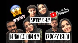 I MET DUCKY BHAI, KHUJLEE FAMILY AND SUNNY JAFRY ;)