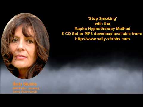 Stop Smoking. One of the 15 tracks from Sally's Rapha Hypnosis Method