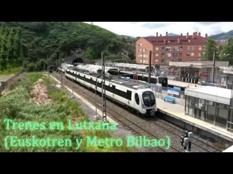 Trenes en Lutxana (Euskotren y Metro Bilbao)