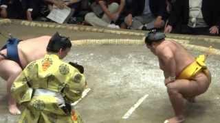 20130921 大相撲秋場所7日目 遠藤 vs 旭日松.