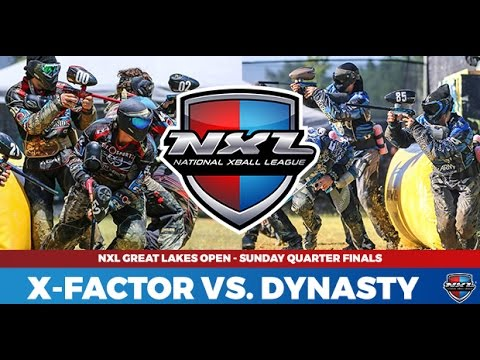 Pro Paintball - Dynasty vs Xfactor AND Impact Vs. Damage from NXL Cleveland