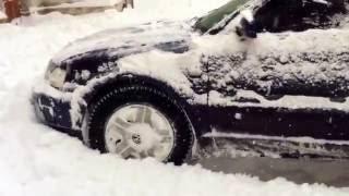Passat b5 полный привод  прет по снегу как вездеход