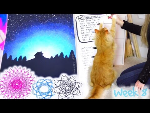 WRECK THIS JOURNAL 8 : SPIROGRAPH Art, Galaxy Painting, Cat Toy, & Drink From A Book | SoCraftastic
