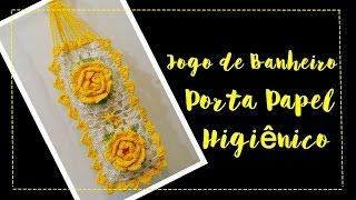 JOGO DE BANHEIRO PORTA- PAPEL HIGIÊNICO por Diane Gonçalves