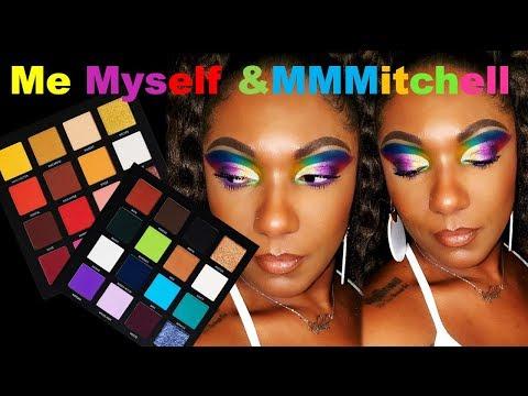 **NEW** ME MYSELF & MMMITCHELL PALETTE!!  Rainbow EYE LOOK & 1st Impression thumbnail