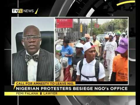 Femi Falana speaks on protests against Amnesty International in Nigeria