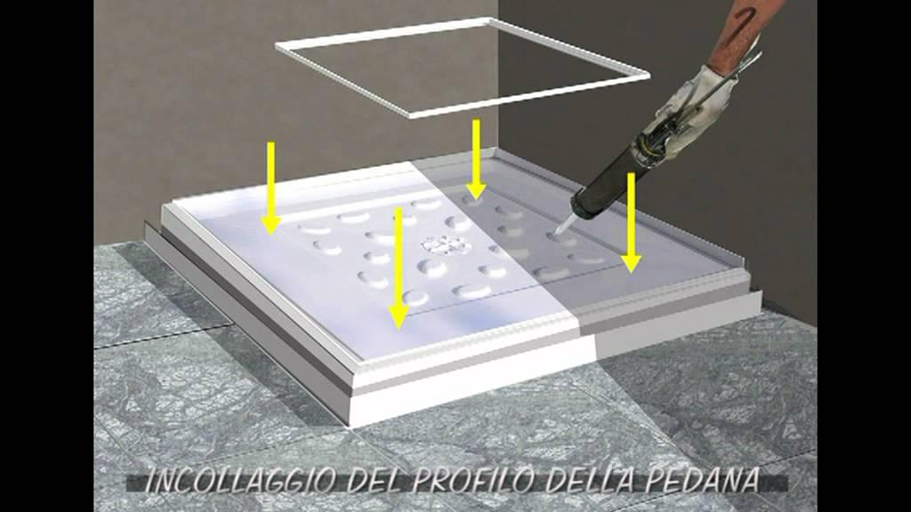 Montare Un Piatto Doccia.Animazione Piatto Sopra Pavimento Youtube