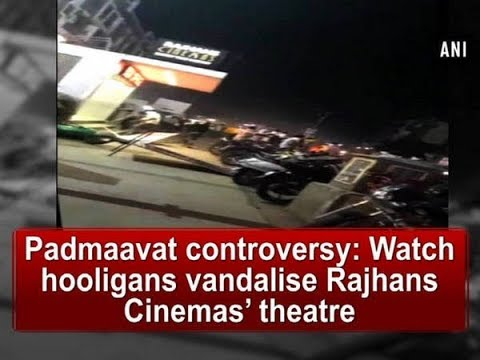 Padmaavat controversy: Watch hooligans vandalise Rajhans Cinemas' theatre  - Gujarat News