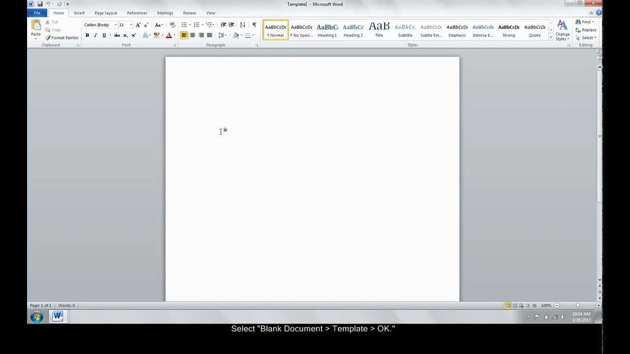 Make A Custom Template In Word  Youtube