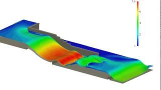 Holzmann CFD :: Multiphase flow, river flow using OpenFOAM®