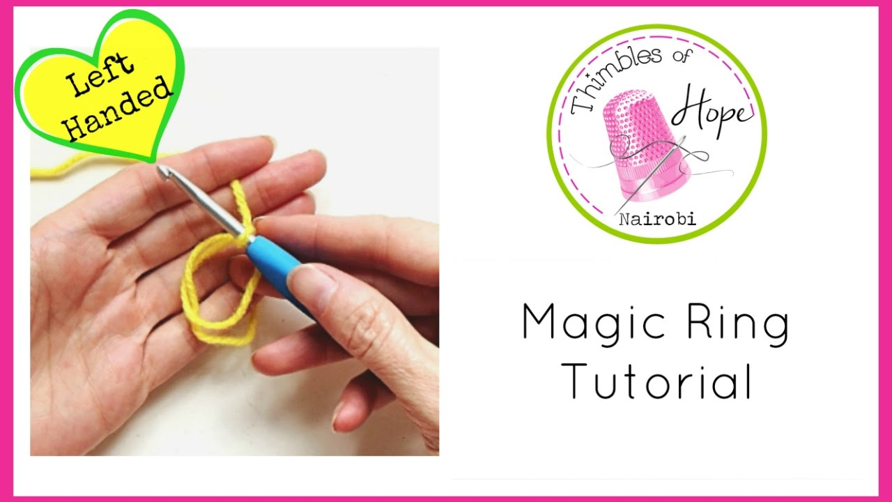 Left handed crochet magic ring tutorial youtube left handed crochet magic ring tutorial baditri Images