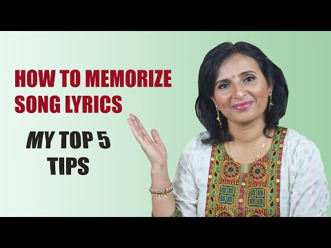 How to memorize song lyrics : My TOP 5 TIPS | Urmi Battu