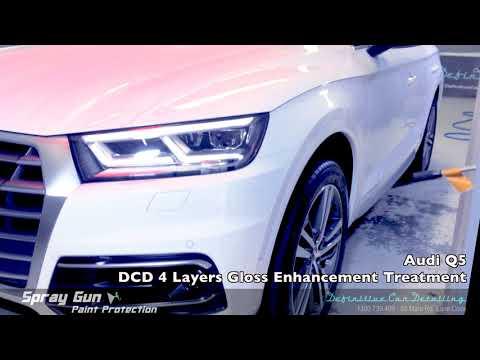 Audi Q5 Ibis White Definitive Sydney Spray Gun 4 Layers Paint Protection Gloss Enhancement Treatment