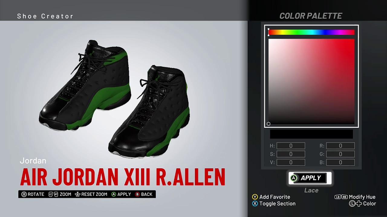 a728e48b3c7 NBA 2K19 Shoe Creator - Air Jordan 13 PE