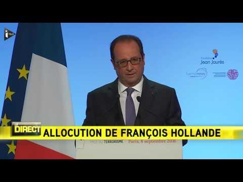 """François Hollande: """"la seule voie qui vaille, c'est celle de l'Etat de droit"""""""