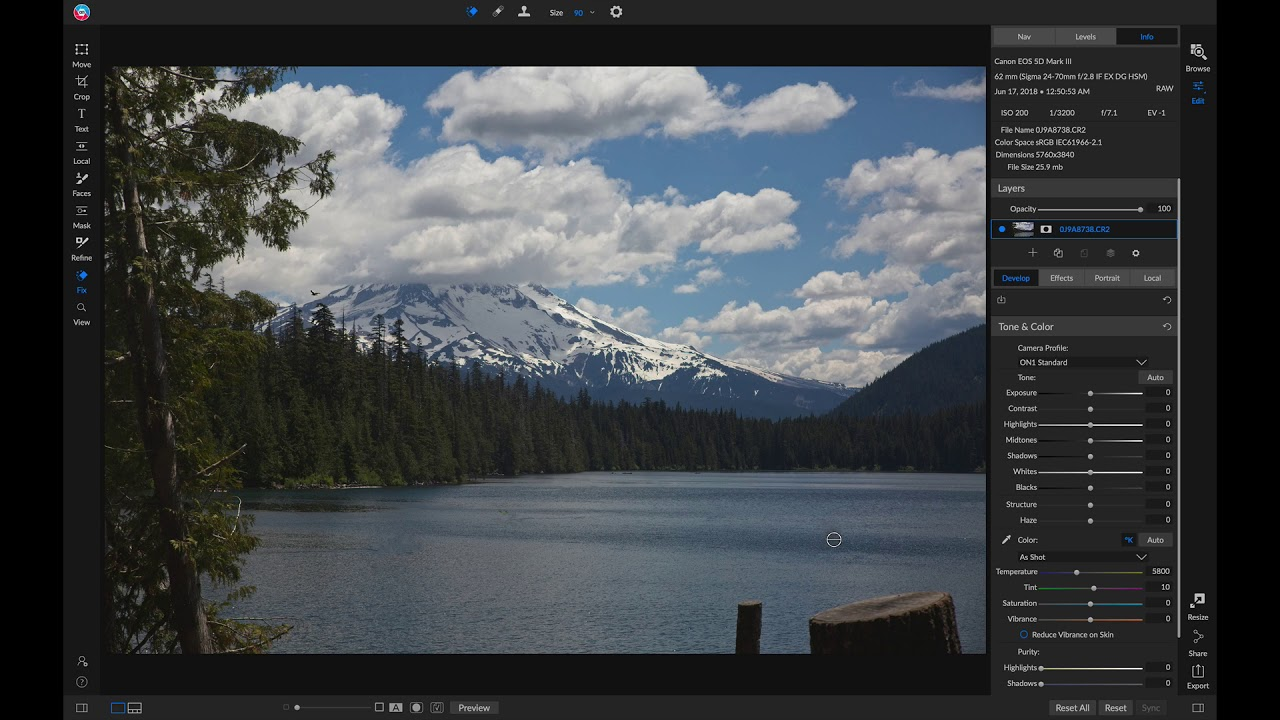 Using the Retouching Tools – ON1