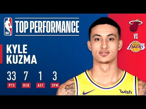 Kyle Kuzma Helps Lift the Lakers Over the Heat at Staples Center! | December 10, 2018