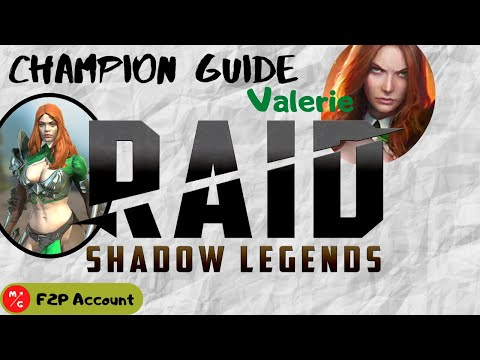 [F2P] | Valerie Raid Shadow Legends Champion Guide | Undervalued Support that should be an Epic!