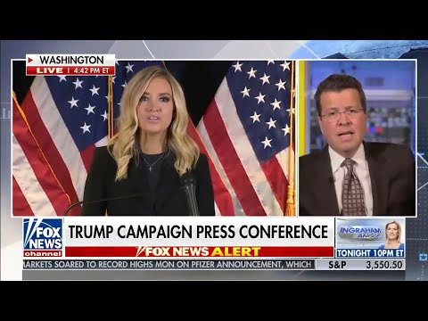 Fox News cuts away from Donald Trump's spokeswoman Kayleigh McEnany over election fraud claims