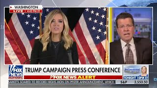 video: Fox News cuts away from Donald Trump's spokeswomanKayleigh McEnany over election fraud claims