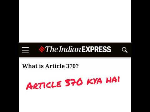what is article 370|why it was revoked|was it beneficial for citizens of Kashmir