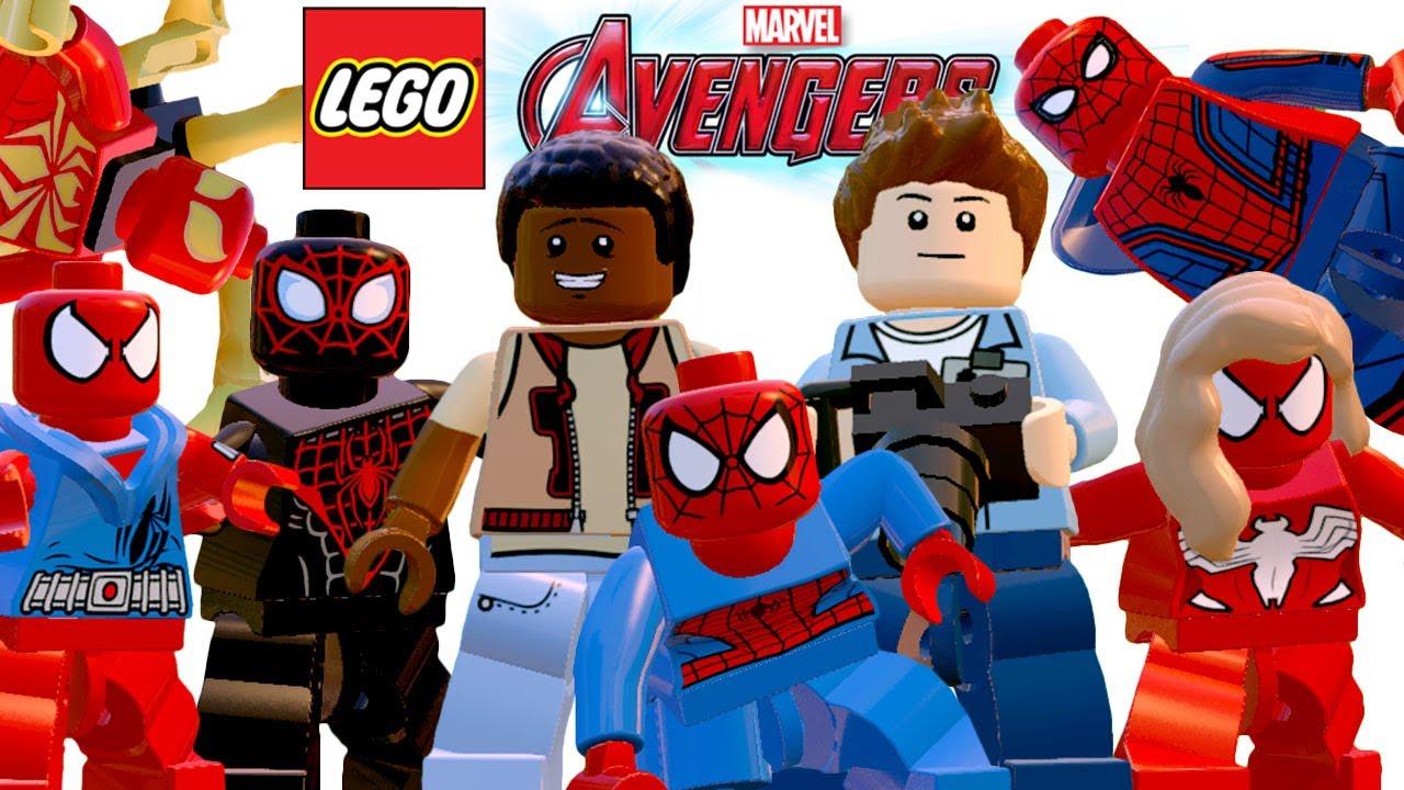 TODOS OS HOMEM ARANHA - LEGO Marvel's Avengers (Vingadores ...