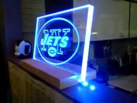 Best Office Floor Lamp, Edge Lighting Clear Plexi w/ vinyl logo YouTube