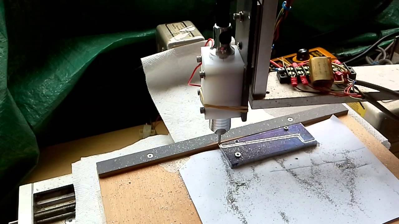 Cutting piece for tool grinder using Grbl-Panel and Grbl 0 9