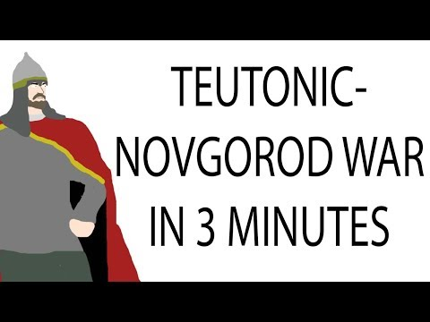 Teutonic - Novgorod War   3 Minute History