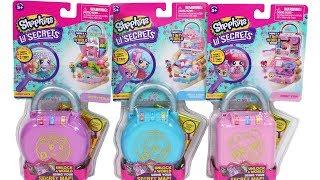 Shopkins Lil Secrets Secret Lock Unboxing Review Donut Stop, Great Bakes Cupcakes & Pretty Petals