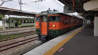 【かぼちゃ電車】しなの鉄道115系湘南色 小諸駅発車&小海線キハ100形発車