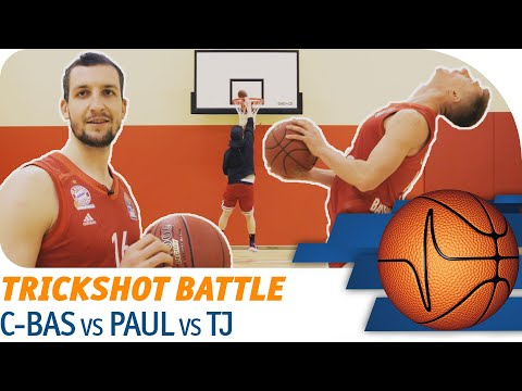 C-BAS vs Zipser vs TJ Bray | HORSE Trick Shot Battle | easyCredit Basketball Bundesliga