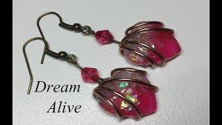 Resin Art Jewelry 레진아트 액세서리 - 설레는 마음 귀걸이 만들기 Making Fluttering Heart Earrings