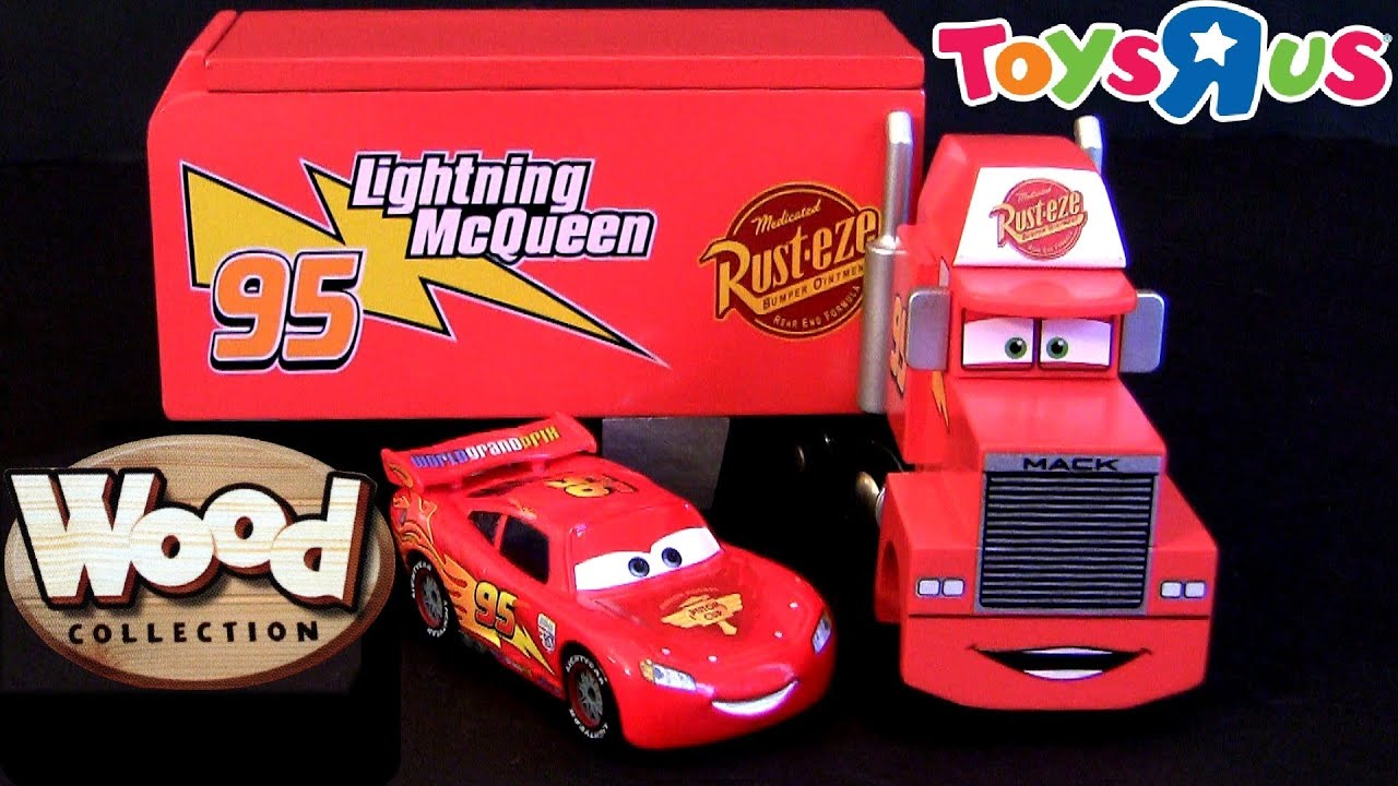 """Wooden Mack Hauler Truck Cars 2 Wood Collection Toys""""R""""us Disney"""