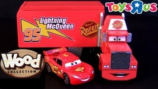 "Wooden Mack Hauler Truck Cars 2 Wood Collection Toys""r""us Disney Pixar Diecast Toys Review"