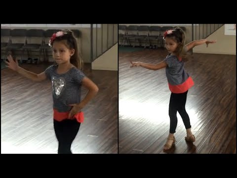 Anastasia Lepin Uptown Funk Bruno Mars + Jive (8 years old)